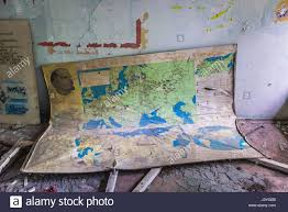 Map Of World Nuclear Power Plants by Old Map In High No 3 In Pripyat Ghost City Of Chernobyl