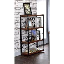 Bookcases Office Depot Acme Furniture Bob Weathered Oak Open Bookcase 92399 The Home Depot