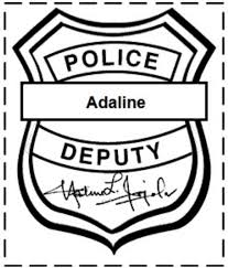 free printable police badge template clipart clipartix