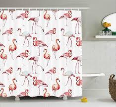 Flamingo Shower Curtains Flamingo Bath Amazon Com