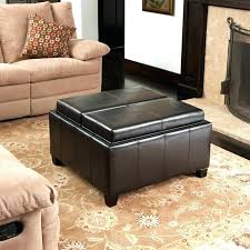 Low Ottoman Low Bench With Storage Coffee Table Ottoman Set Living Table And