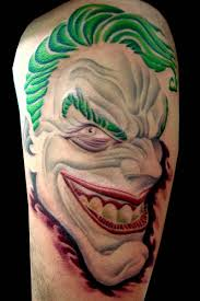green hair evil joker tattoo design tattoos book