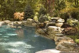 rock waterfalls for pools swimming pool waterfalls and water features constructed by sage