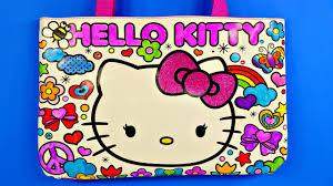 kitty sparkling gemstone coloring tote bag design