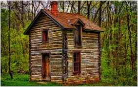 cabin on overcast day edward byrne paintography
