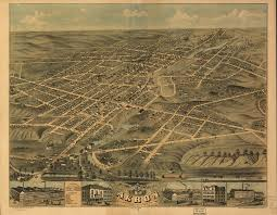 Ohio Google Maps by Bird U0027s Eye View Of The City Of Akron Summit County Ohio 1870