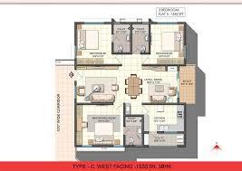 3 bhk single floor house plan w5moqtype c west facing jpg jpg