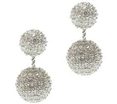 earring jackets for studs judith ripka sterling pave diamonique studs earring jackets