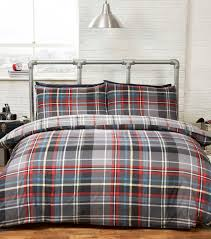 luxury hamilton tartan check design contemporary double duvet set