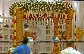 wedding stage decoration at anandha inn pondicherry wedding
