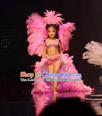 kids samba top grade professional performance catwalks costume and