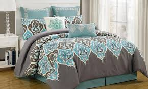bedding set entertain teal and gray quilt set great teal and