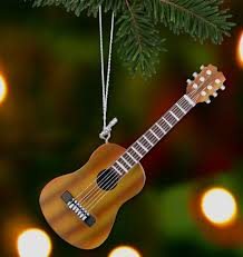 hanging guitar ornament decoration brown acoustic