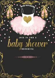 ballerina baby shower invitations ballerina baby shower invitations free cakraest invitation
