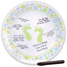 guest signing plate baby shower autograph plate guest book memory plate