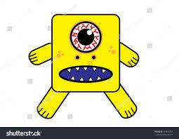 scary yellow cyclops monster vector stock vector 145815203