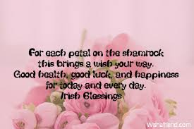 wedding quotes luck for each petal on the shamrock luck quote