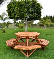 Design For Octagon Picnic Table by Octagon Picnic Table Wood Picnic Table With Attached Bench