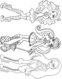 monster high clawdeen wolf coloring pages monster high coloring pages draculaura and clawdeen coloring home