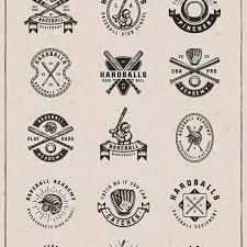 fast free download graphicriver vintage baseball emblems gold
