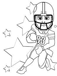 projects inspiration football coloring pages printable free
