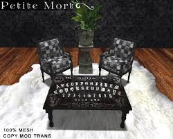 Petite Furniture Living Room by Second Life Marketplace Petite Mort Dark Wood Ouija Board