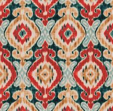 Ikat Home Decor Fabric by Dark Blue Ikat Fabric By The Yard Modern Blue Red Cotton