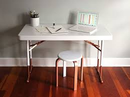 diy folding sewing table upcycle a plastic folding table into a chic desk folding tables