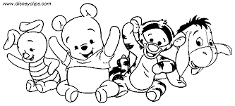 baby winnie the pooh coloring pages happy holidays
