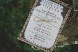 jar invitations jar rustic wedding invitation 10 unique rustic wedding