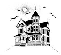printable spooky house drawn haunted house printable many interesting cliparts