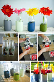 starbucks glass coffee containers turned into stunning vase paint