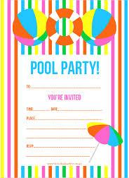 pool party invitations free printable pool party invitations cimvitation