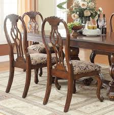 crown brown double pedestal table dining set with leaves