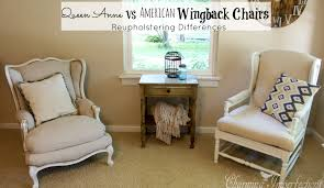 How To Reupholster A Wingback Armchair Queen Anne Vs American Wingback Chairs
