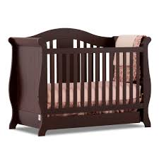Convertible Crib Espresso Storkcraft Espresso Vittoria 3 In 1 Fixed Side Convertible Crib