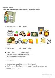Countable And Uncountable Some Any Exercises Pdf 12 Best Food Reading Images On Centered