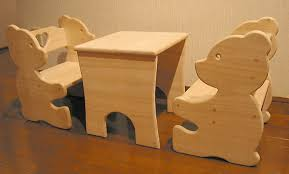 Toddler Table And Chairs Wood Bear Chair And Table Set For Kids 5 Steps With Pictures