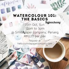 watercolour 101 the basics workshop with joee cheong