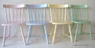 Pastel Dining Chairs Restyled Vintage Client Commission Painted Pastel Dining Chairs