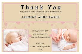 Sample Invitation Card For Christening 10 Personalised Girls Christening Baptism Thank You Photo Cards N194