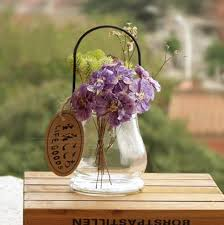 Buy Glass Vases Online Glass Vases Iron Handle Home Decoration Tabletop Flower Vases Hand