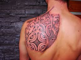 new shoulder tribal tattoo done for men tattoos for men