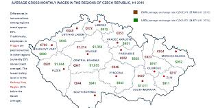 sales salary guide salary levels in the czech republic by regions and sectors