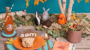 table thanksgiving woodland table thanksgiving kids table ideas youtube