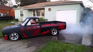 Datsun 521 Burnout 1 Tire Fire Lol Youtube