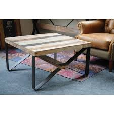cross leg coffee table reclaimed wood cross leg coffee table industrial coffee tables