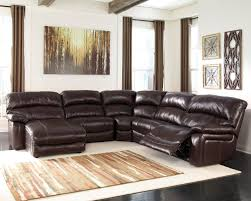 Brown Leather Recliner Chair Damacio Dark Brown Leather Sectional W Laf Chaise Living Rooms