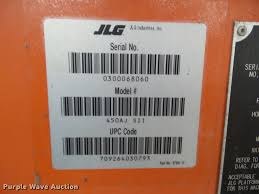 2002 jlg 450aj sii boom lift item cb9781 sold march 2 c