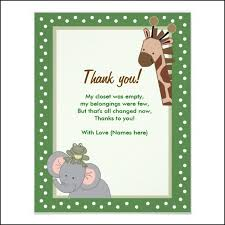 baby shower thank you notes thank you note for baby shower gift diabetesmang info